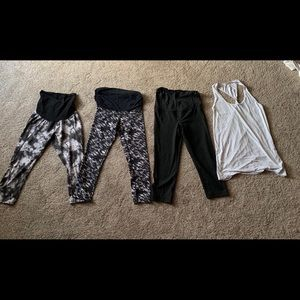 Maternity workout clothing